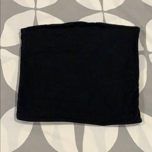 Black brandy Melville bandeau top crop top